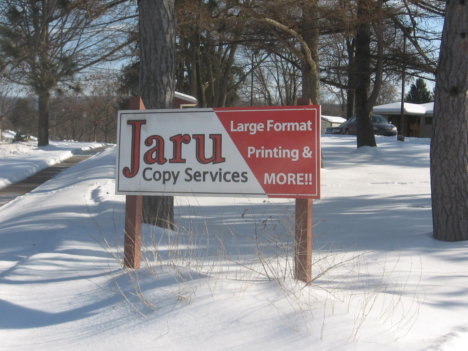 Jaru Copy Services Sign